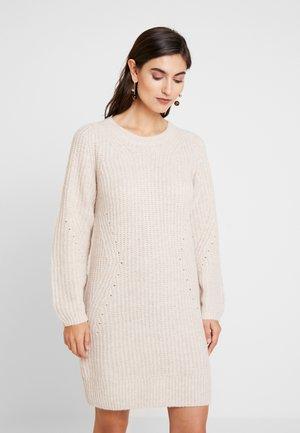 CREW DRESS - Vestido de punto - oatmeal heather