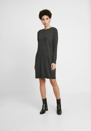 V-SHIFT DRESS - Pletené šaty - charcoal heather
