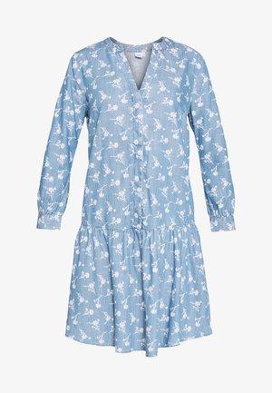 Košilové šaty - indigo
