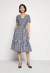 GAP - Denní šaty - navy gingham - 0