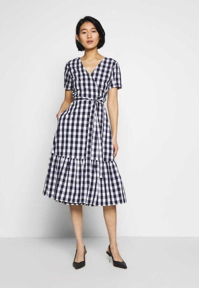 Day dress - navy gingham
