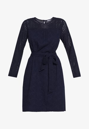 EYELET DRESS - Denní šaty - navy uniform
