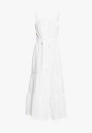 EYELET APRN MAXI DRESS - Maxi dress - optic white