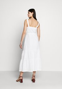 GAP - EYELET APRN MAXI DRESS - Vestito lungo - optic white - 2