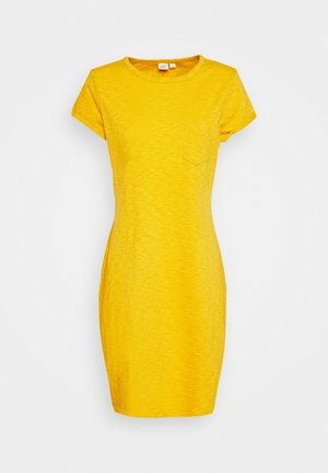 TEE DRESS - Jerseykjole - brilliant yellow
