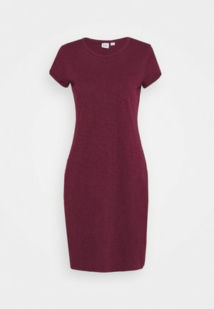 TEE DRESS - Vestido ligero - ruby wine