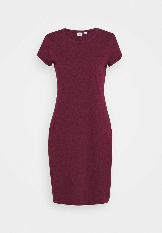 TEE DRESS - Jerseykleid - ruby wine