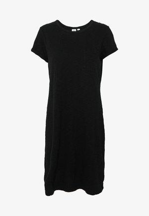 TEE DRESS - Jersey dress - true black