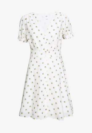 TIE SLEEVE MINI DRESS - Blousejurk - white