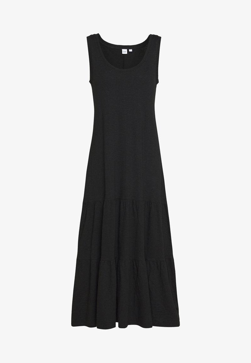 GAP - TIERED - Długa sukienka - true black