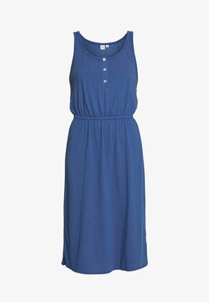 TIERED DRESS - Žerzejové šaty - chrome blue