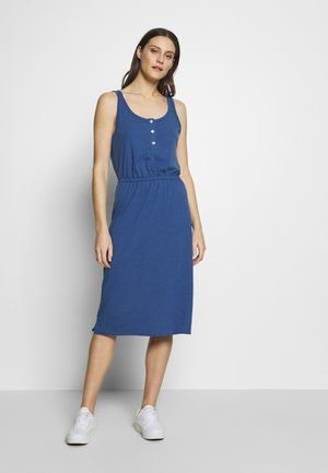 TIERED DRESS - Jersey dress - chrome blue