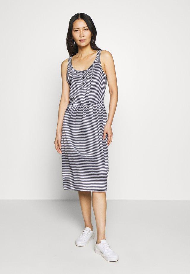 TIERED DRESS - Sukienka z dżerseju - dark blue