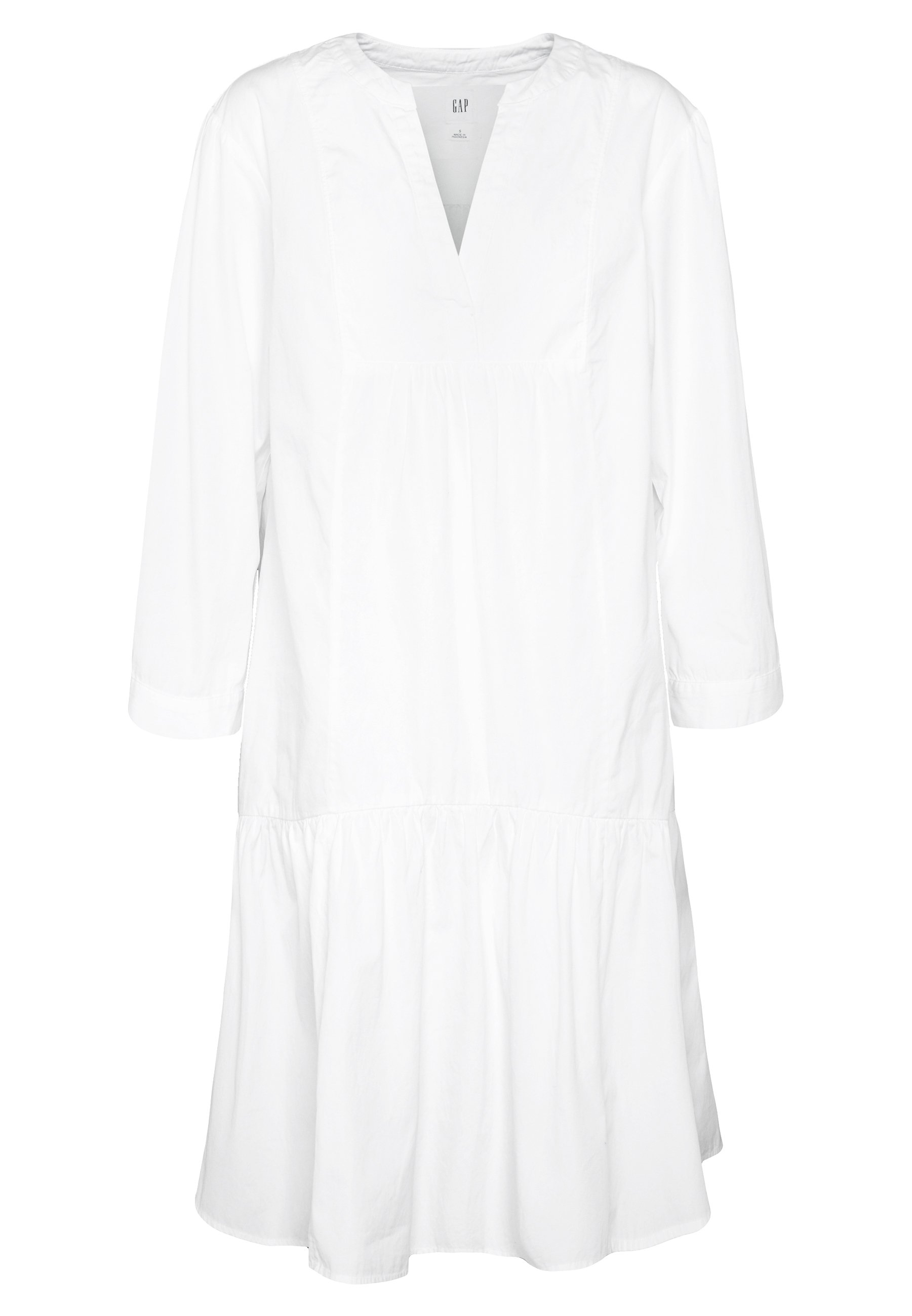 Gap Poplin Trapeze - Day Dress Optic White
