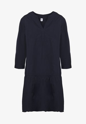 POPLIN TRAPEZE - Day dress - navy uniform