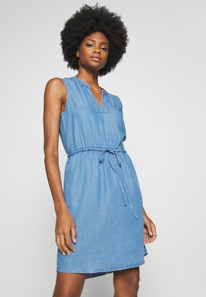 DRESS - Denim dress - bright medium