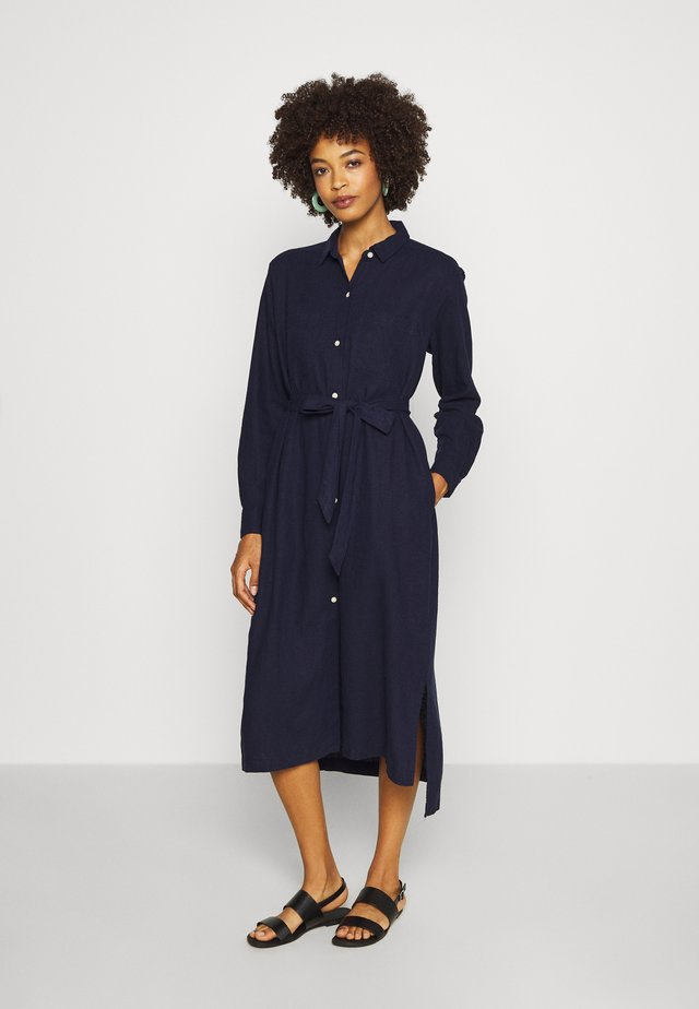 DRESS - Shirt dress - navy uniform
