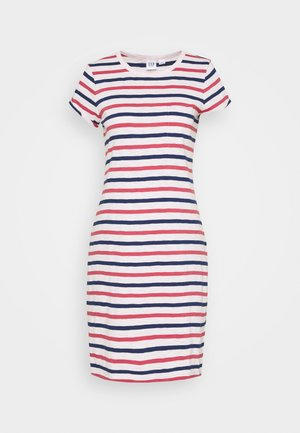 TEE DRESS - Jersey dress - blue/red/pink