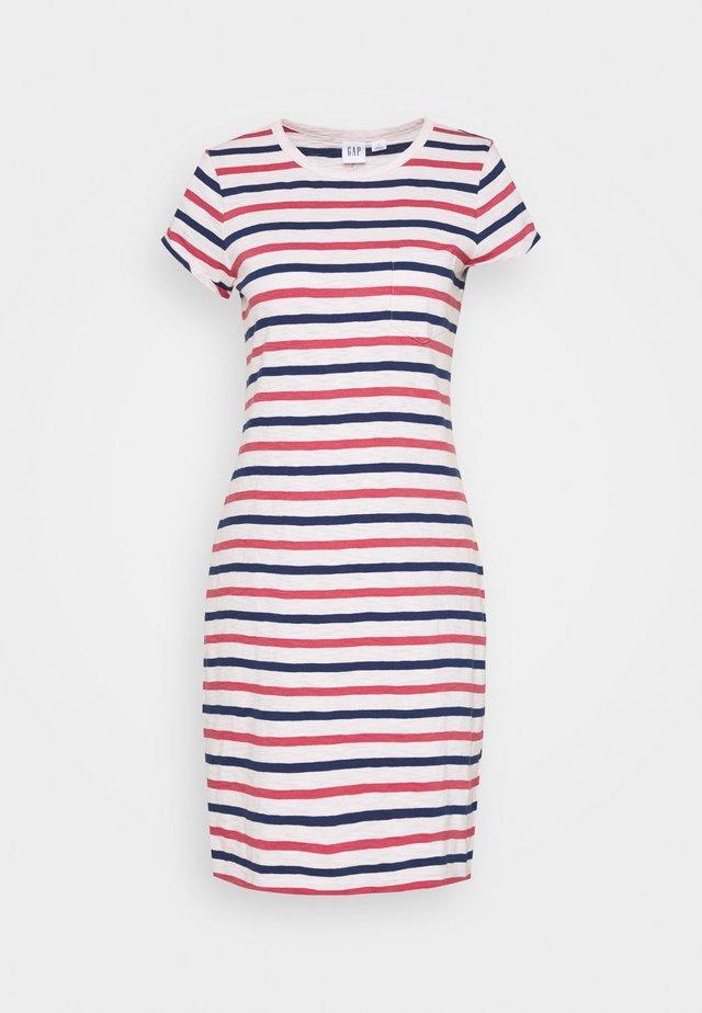 TEE DRESS - Jersey dress - blue/red/pink