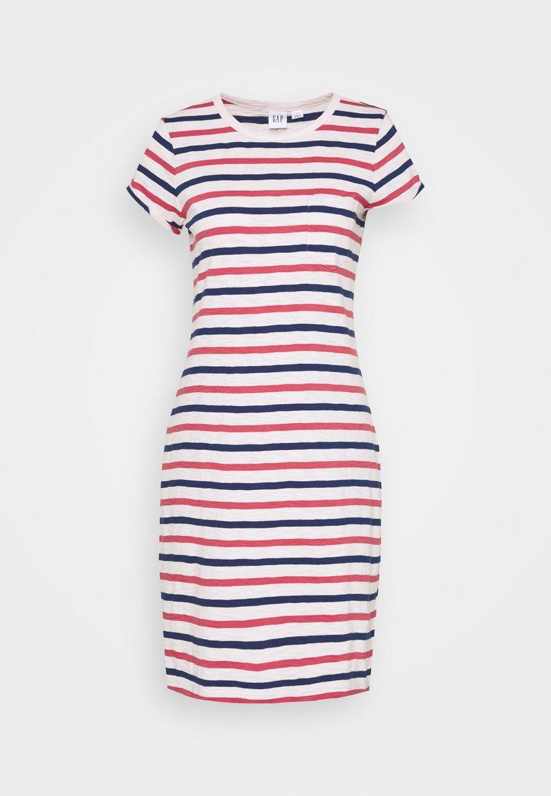 GAP - TEE DRESS - Jersey dress - blue/red/pink