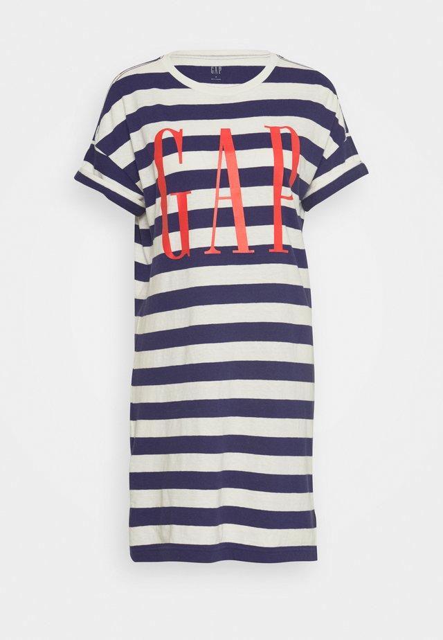 TEE - Vestido informal - navy/white