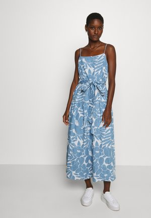 APRON TIE WEST DRESS - Denim dress - blue
