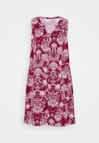 burgundy floral
