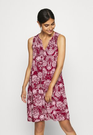 ZEN DRESS - Korte jurk - burgundy floral