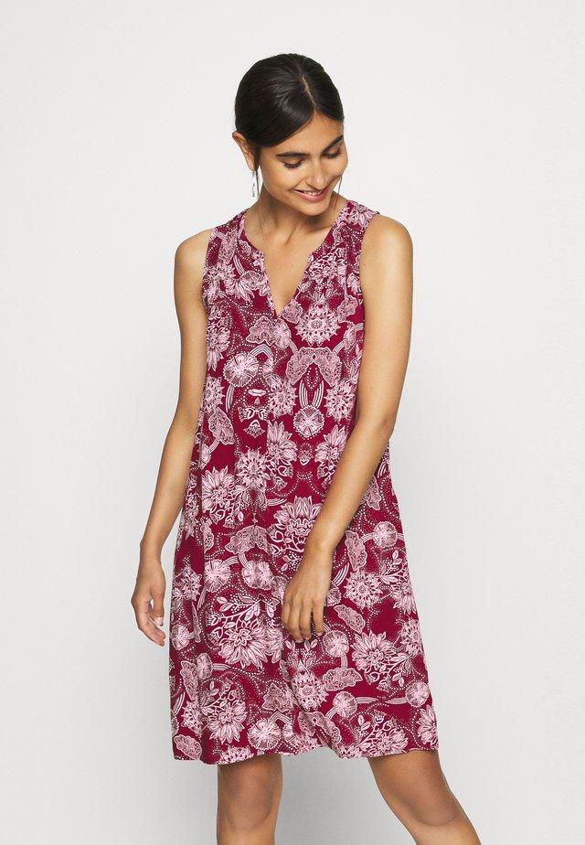 ZEN DRESS - Korte jurk - burgundy floral