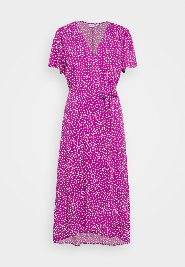 MIDI WRAP DRESS - Vestido informal - purple