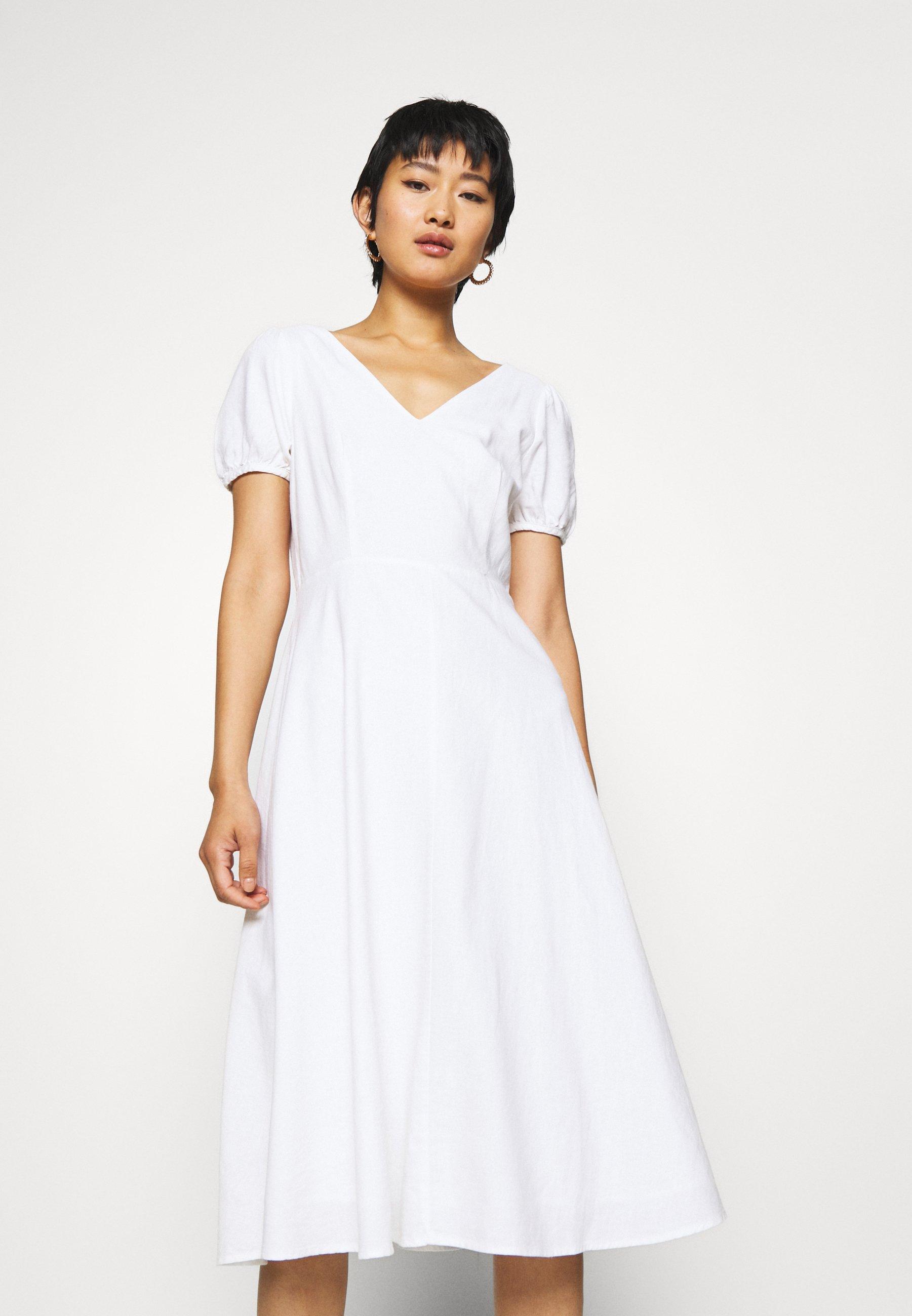 GAP MIDI Korte jurk fresh white Zalando.nl