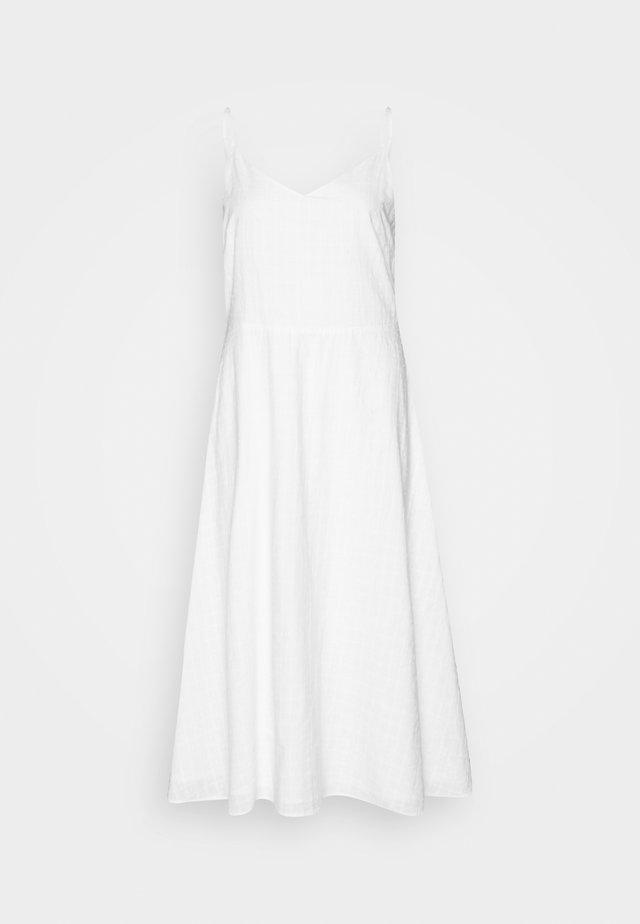 CAMI MIDI EYELET - Korte jurk - optic white