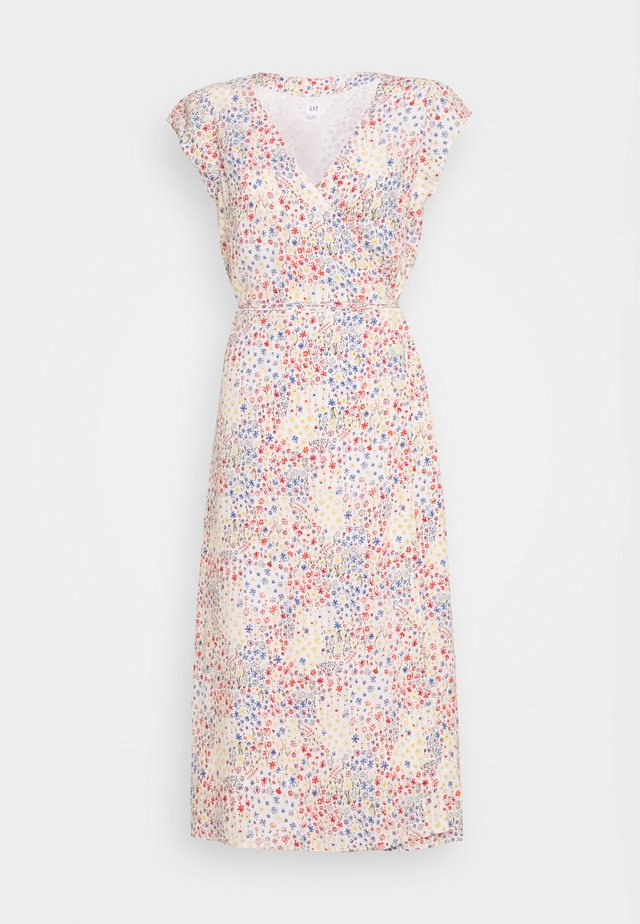 SIDE WRAP - Korte jurk - white