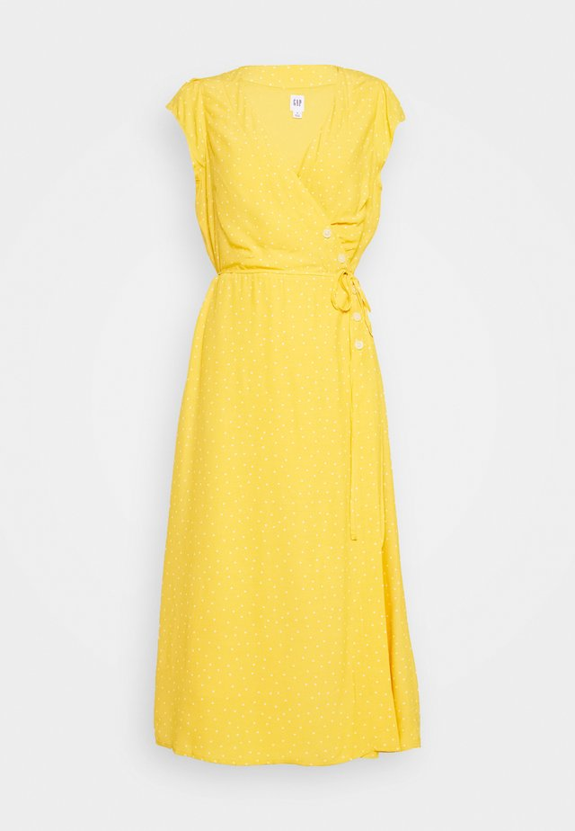 SIDE WRAP - Korte jurk - yellow