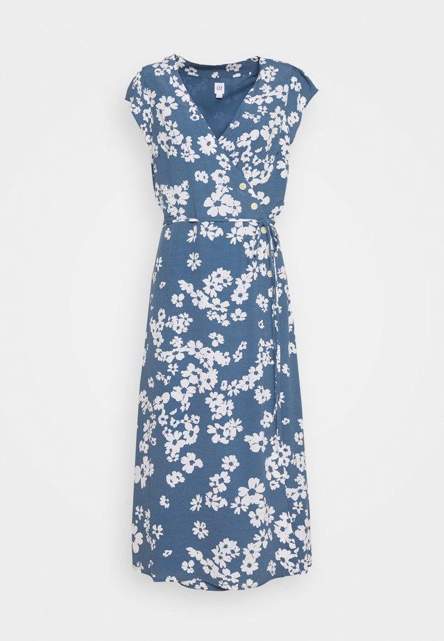 SIDE WRAP - Robe d'été - blue