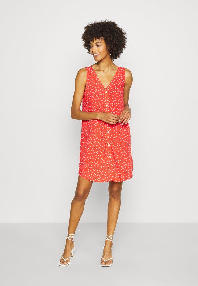 DRESS - Robe d'été - red ditsy