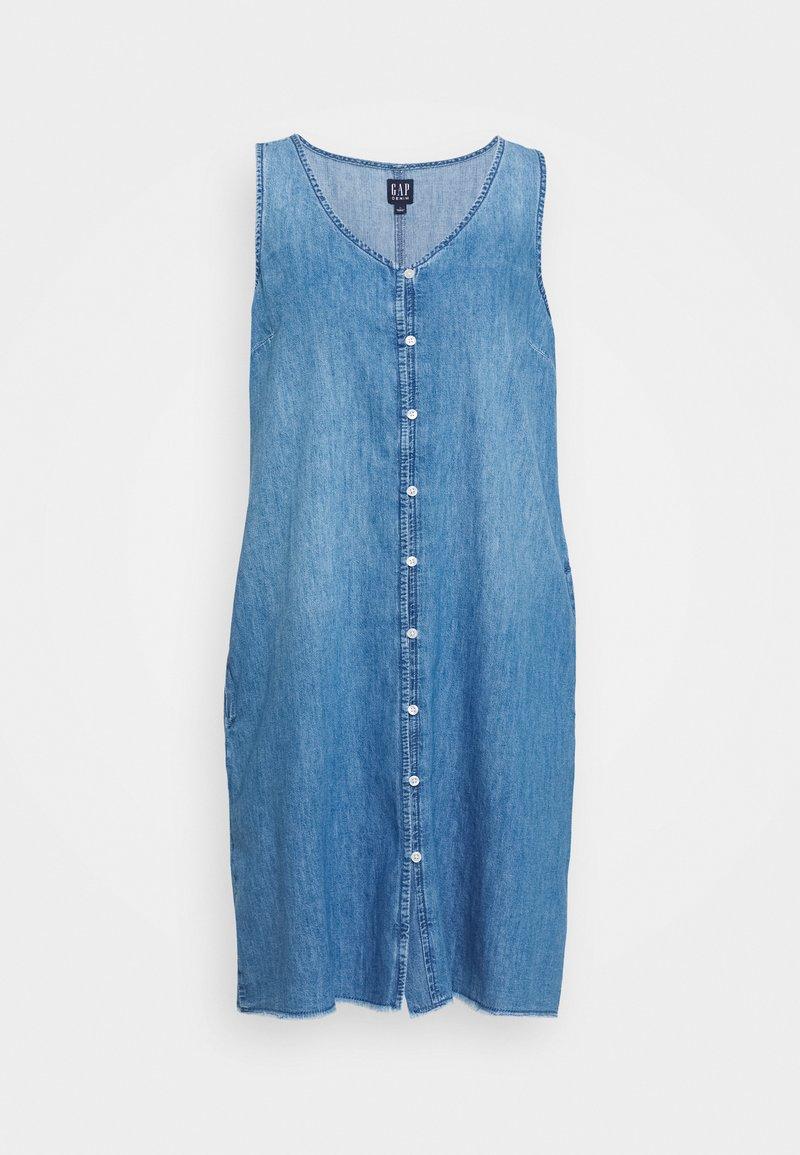 GAP - TANK DRESS - Freizeitkleid - medium wash