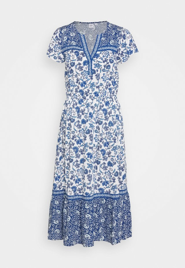 MIDI DRESS MIX - Day dress - blue