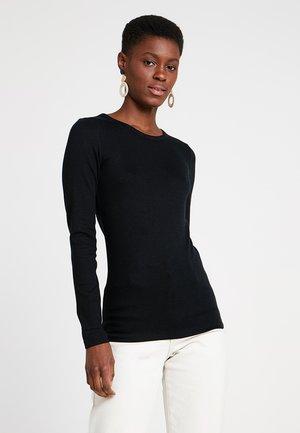CREW TEE - T-shirt à manches longues - true black