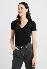 GAP - TEE - Camiseta básica - true black - 0