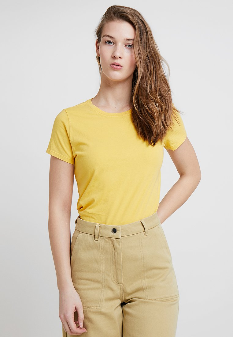 GAP - VINT CREW - Jednoduché triko - rainslicker yellow