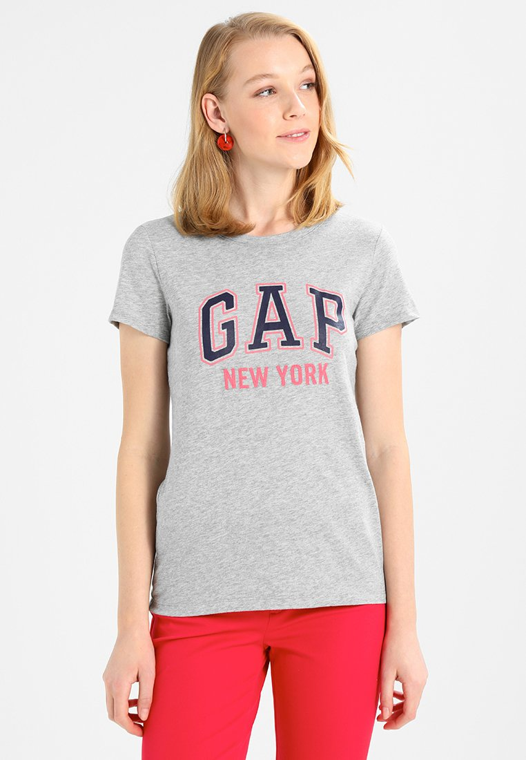 GAP - CITY TEE NEW YORK - Print T-shirt - light heather grey