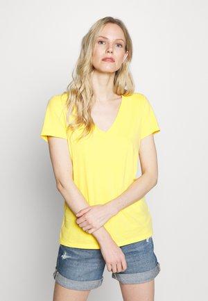 Print T-shirt - new marigold