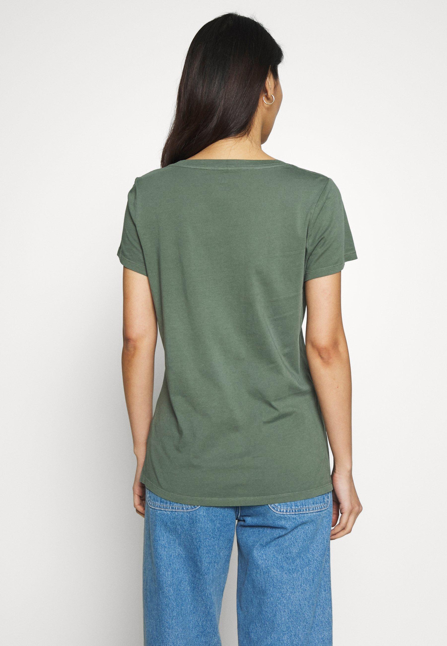GAP T-shirts med print - pressed olive