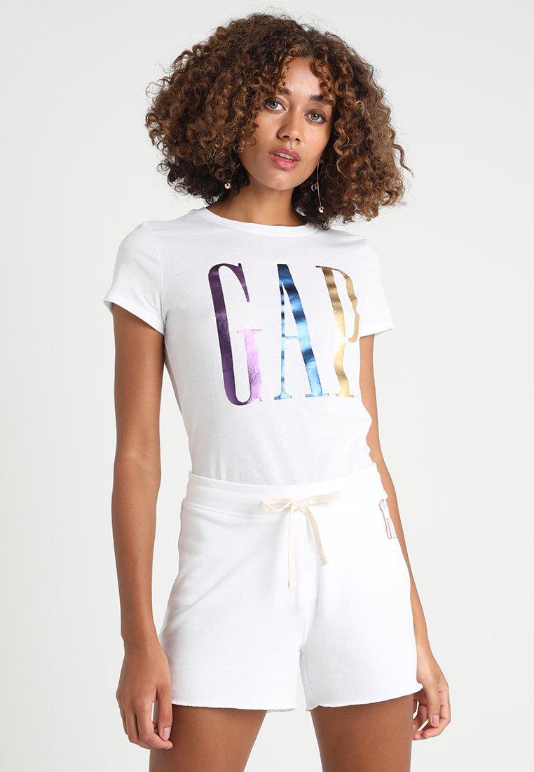 GAP TEE - T-shirt z nadrukiem - white
