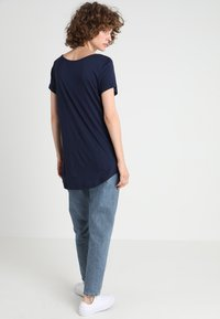 GAP - LUXE - T-shirt basic - navy - 2
