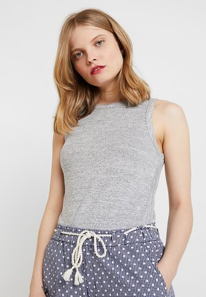 TANK - Topper - space dye grey marl