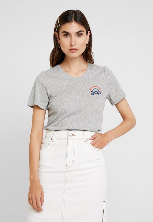 najlepszy GAP TEE - T-shirt z nadrukiem - heather grey Koszulki i Topy IJWO-TK5