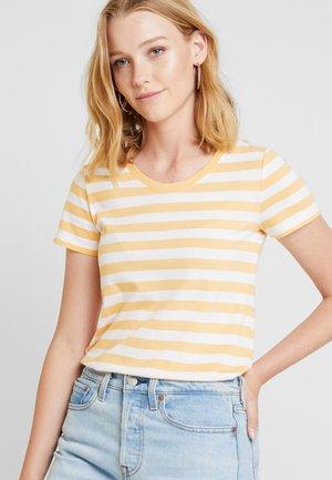 CREW - Print T-shirt - orange nectar