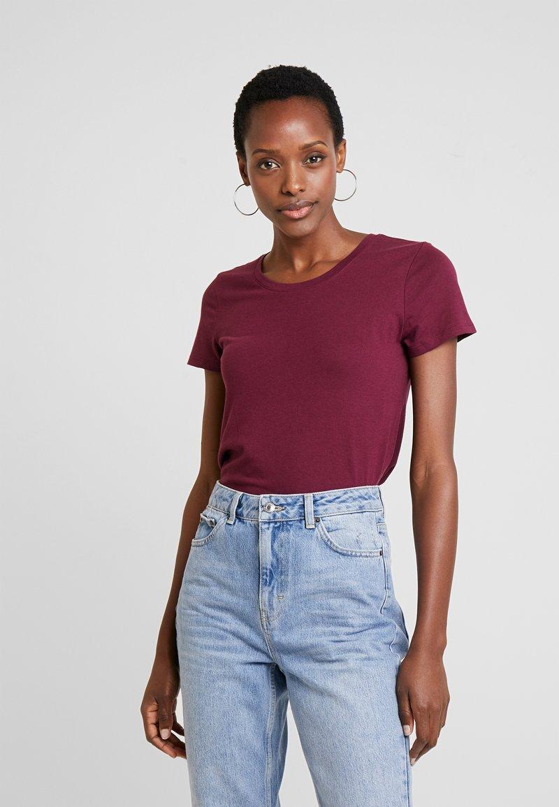 GAP - FAV CREW - T-shirts basic - ruby wine